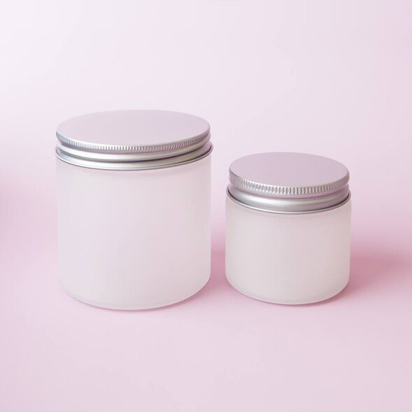 Frosted 6 oz Glass Jar