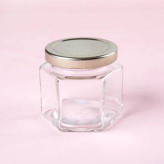 4 oz Hexagon Jar - 4 Jars