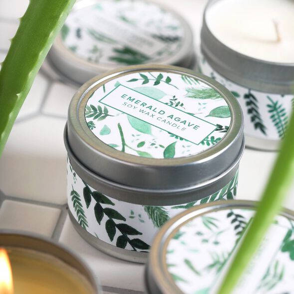 Emerald Agave Candle Kit