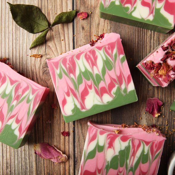 Pink Petals Soap Project
