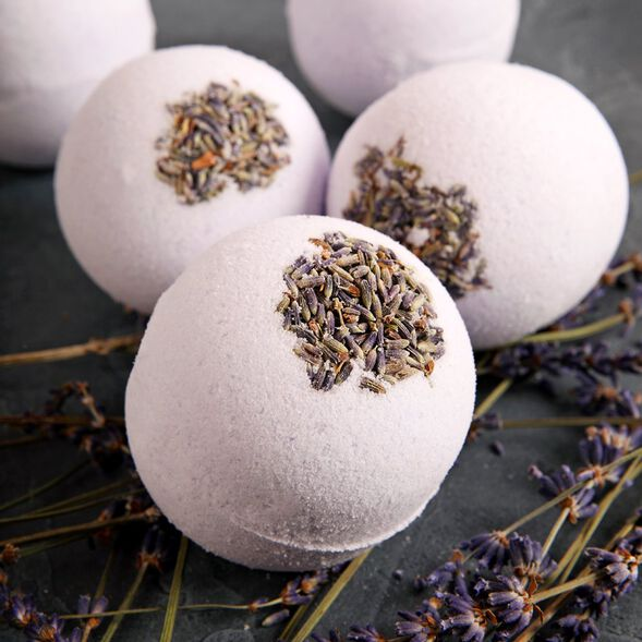 Relaxing Lavender Bath Bombs