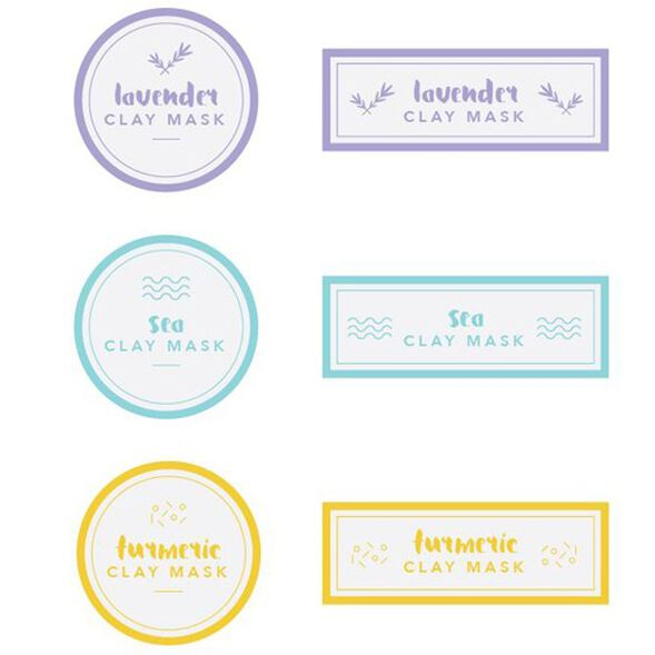 Clay Mask Label Digital Template