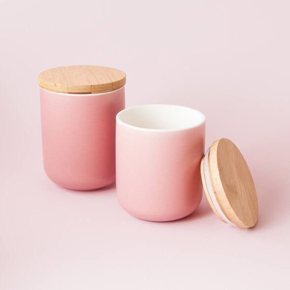 Blush Ceramic Jar - Small