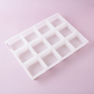 12 Bar Square Silicone Mold - 1 mold