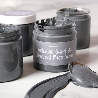 Volcanic Sand Face Scrub Project