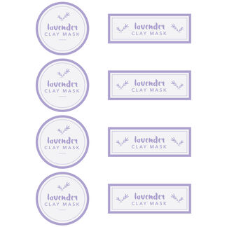 Lavender Clay Mask Digital Label