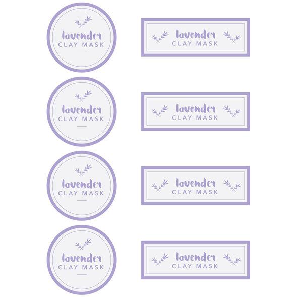 Lavender Clay Mask Digital Label