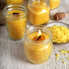 Beeswax and Honey Candle Project