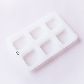 6 Cavity Silicone Square Mold - 1 Mold
