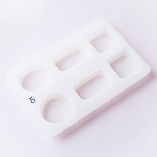 6 Cavity Silicone Assorted Shapes Mold - 1 Mold
