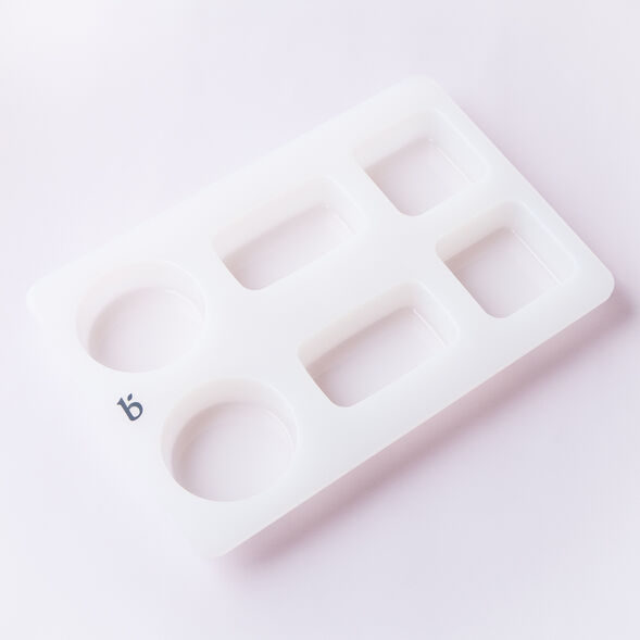 6 Cavity Silicone Assorted Shapes Mold