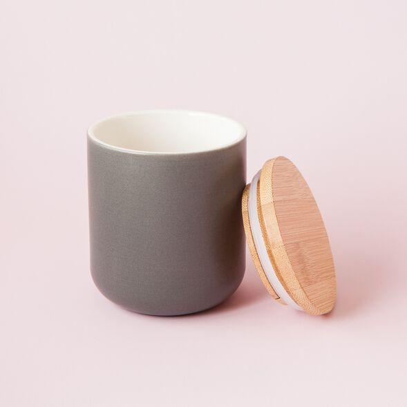 Gray Ceramic Jar - Small