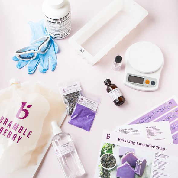 Natural Soap Kit for Beginners - Relaxing Lavender