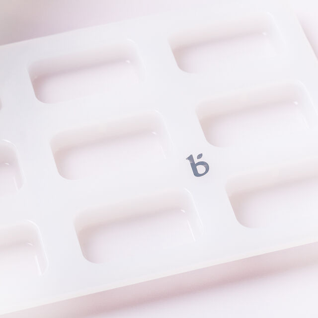 9 Cavity Silicone Guest Rectangle Mold - 1 Mold