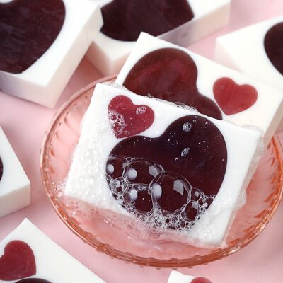 Berry Heart Soap Project