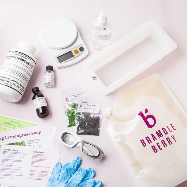 Natural Soap Kit for Beginners - Refreshing Lemongrass