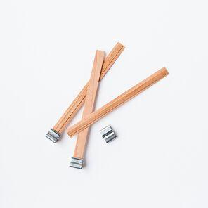 Narrow Wooden Wicks - 10 Wicks