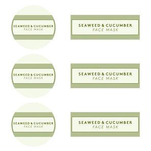 Seaweed and Cucumber Mask Digital Label