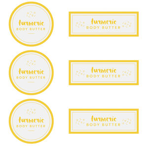 Turmeric Body Butter Digital Template
