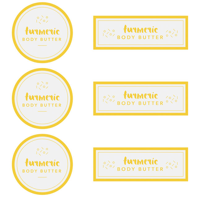Turmeric Body Butter Digital Template