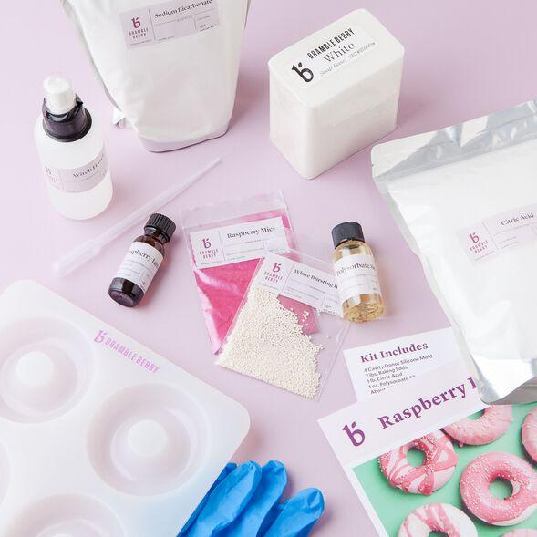 Raspberry Donut Bath Bomb Kit