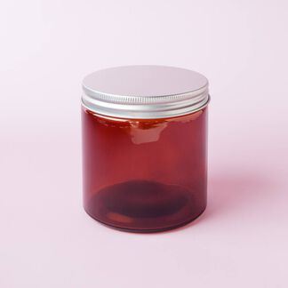 Amber 13 oz Glass Jar - 4 Jars