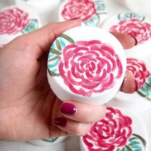 Painted Rose Bath Bomb Project