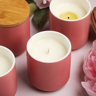 Peony and Amberwood Candle Kit - Domestic