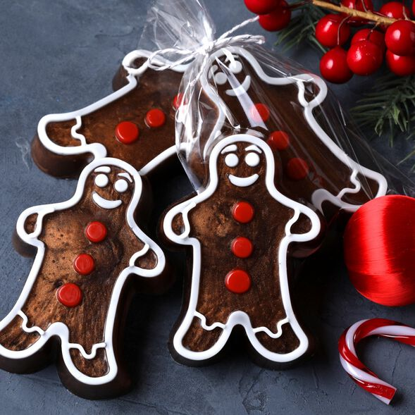 4 Cavity Gingerbread Mold - 1 Mold