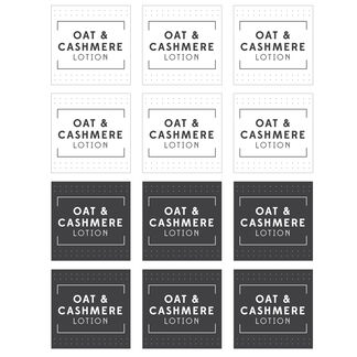 Oat and Cashmere Lotion Digital Label