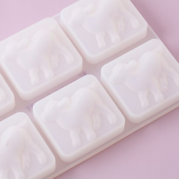 6 Cavity Silicone Goat Mold - 1 Mold