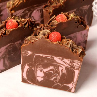 Raspberry Truffle Soap Project