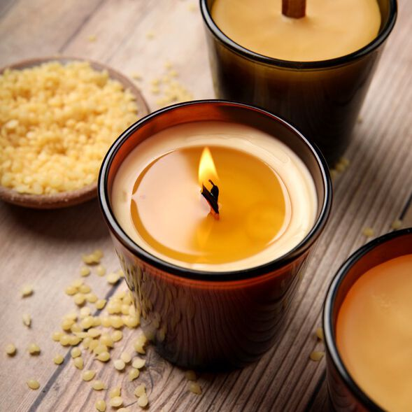 Hickory and  Suede Beeswax Candle Project
