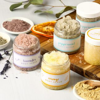 Natural Salt Scrub Kit - Domestic
