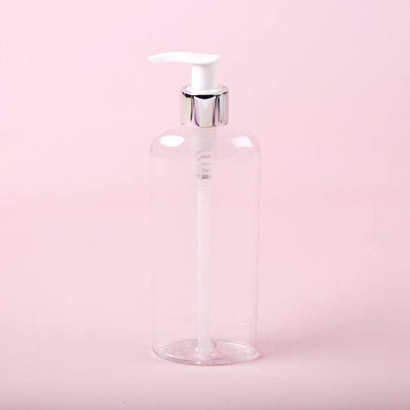 8 oz Bottle with Silver Pump Cap