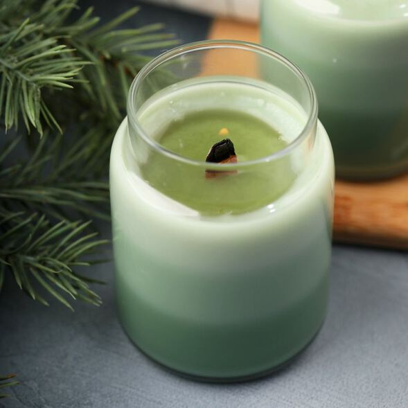 Frosted Fir Layered Candle Project