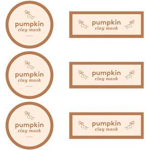 Pumpkin Clay Mask Digital Template