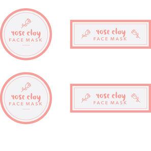 Rose Clay Mask Digital Label