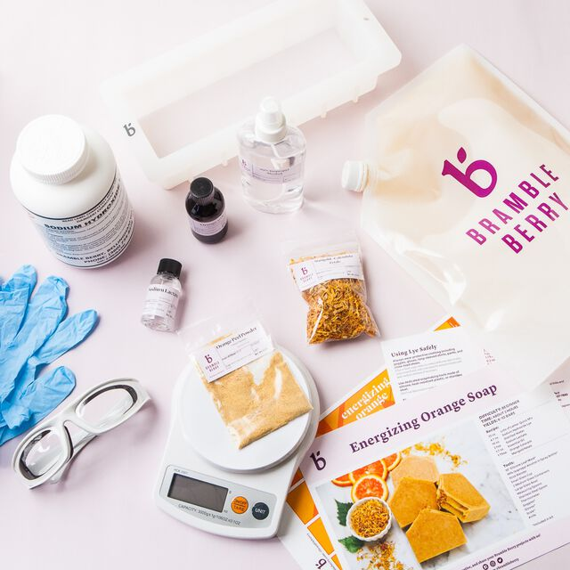 Natural Soap Kit for Beginners - Energizing Orange