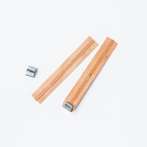 Wide Wooden Wicks - 10 Wicks