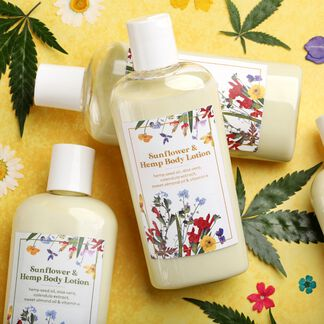 Sunflower Hemp Lotion Kit - Domestic