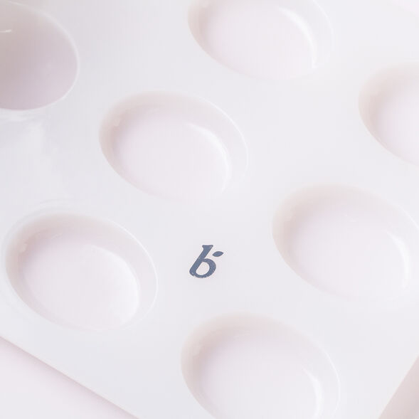 9 Cavity Silicone Guest Oval Mold
