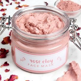 Rose Clay Face Mask Project