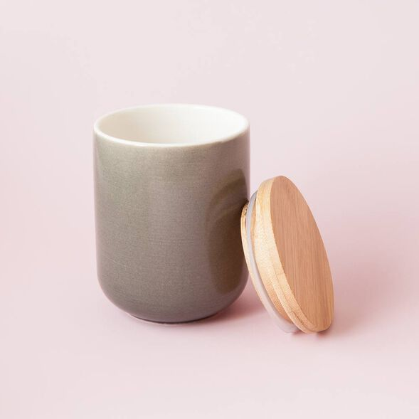 Gray Ceramic Jar - Large