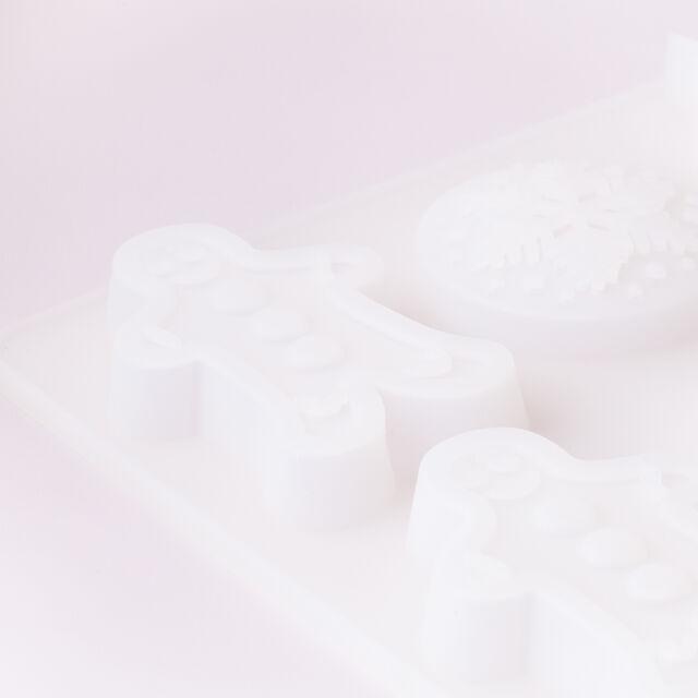 6 Cavity Christmas Assortment Silicone Mold
