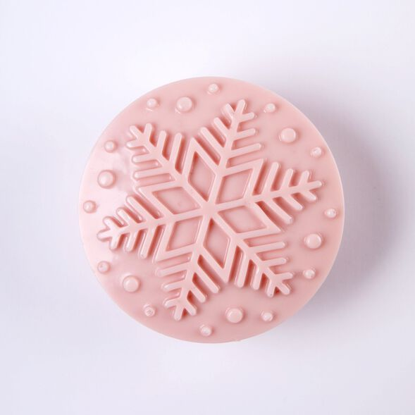 4 Cavity Snowflake Silicone Mold - 1 Mold
