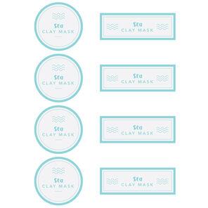 Sea Clay Mask Digital Label