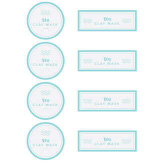 Sea Clay Mask Digital Label