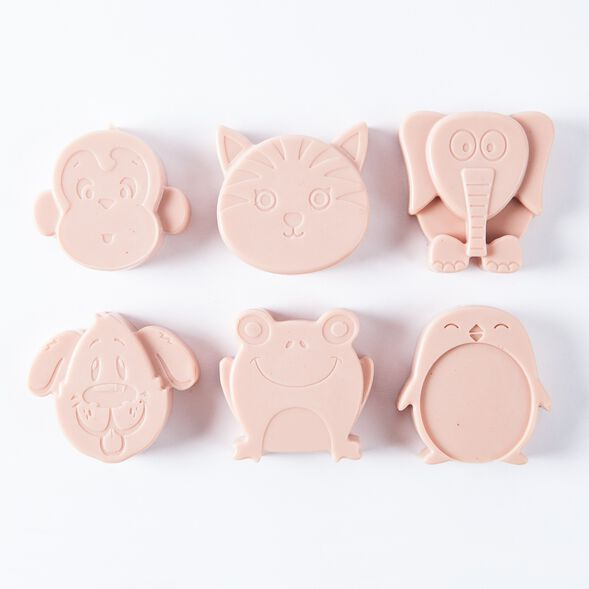 6 Cavity Kids Animals Silicone Mold