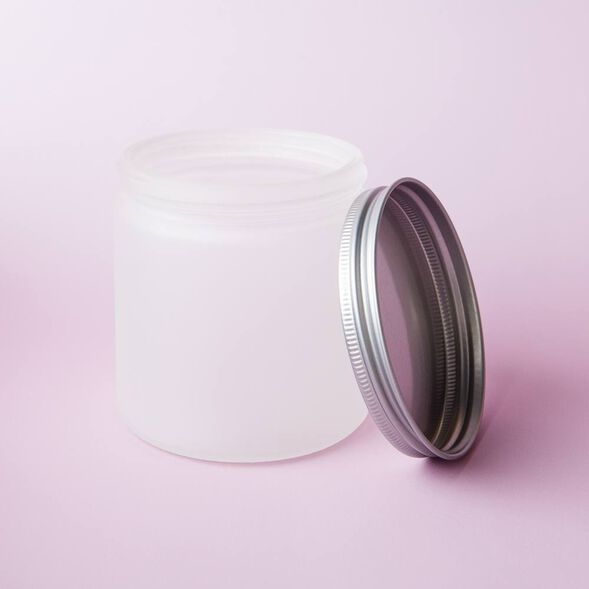 Frosted 13 oz Glass Jar